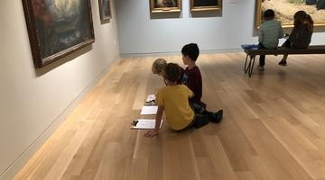 Lower Elementary students at the Danforth Museum